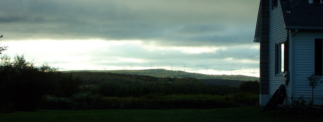 Thomas WV windmills in Tucker County - unretouched in           any way