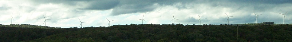 Thomas WV windmills in Tucker County - unretouched